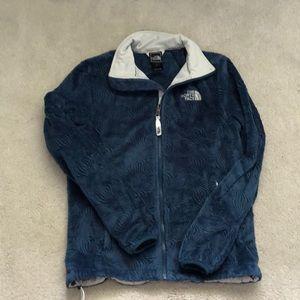 Women's furry fleece full zip jacket